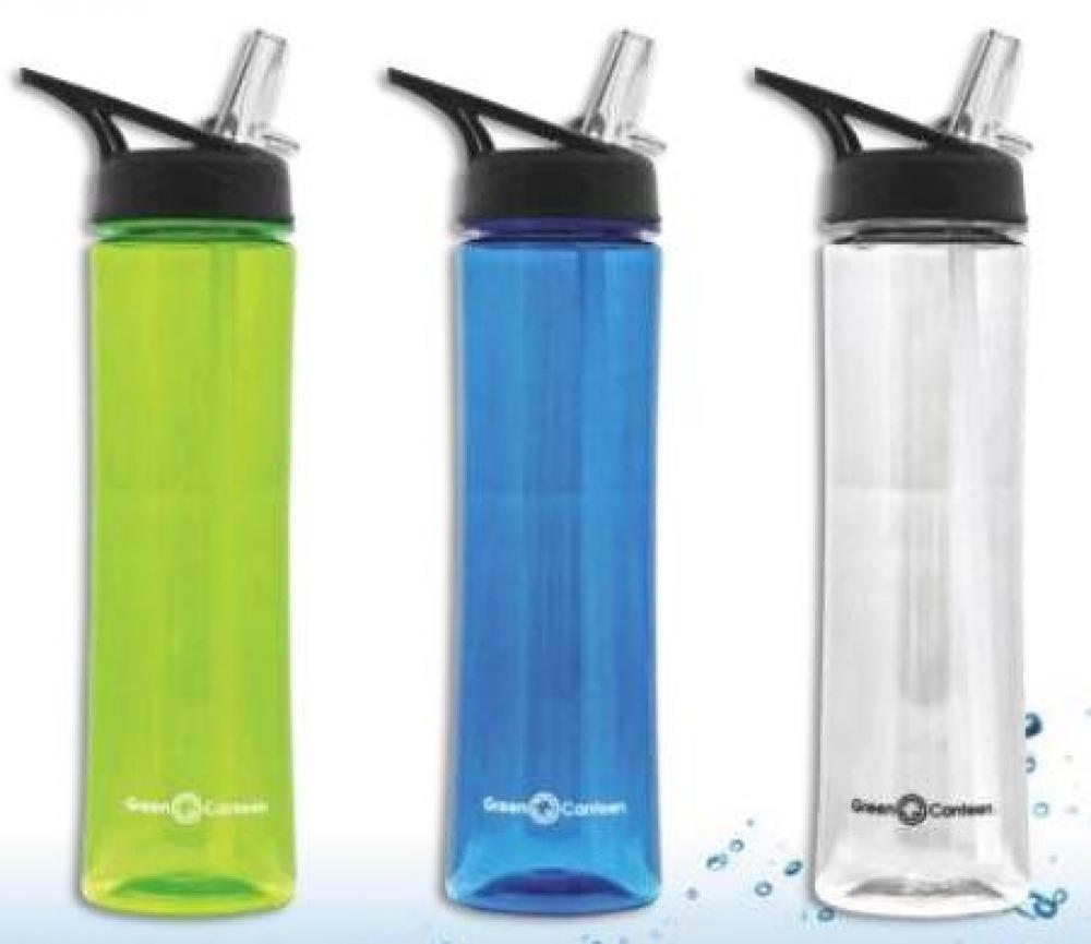 Ūdens pudele 750ml, plastmasas, asort.krāsas