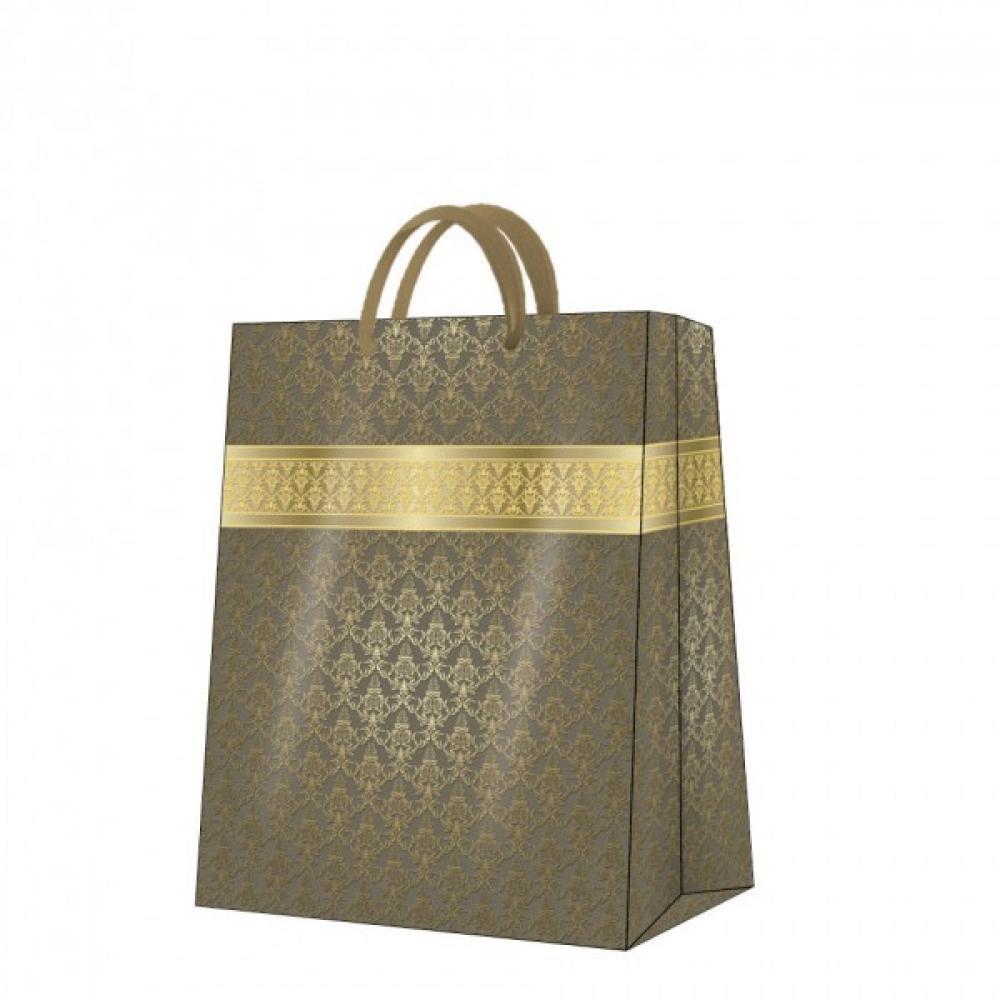 Premium dāvanu maisiņš 26.5x33.5x13 gold fortune