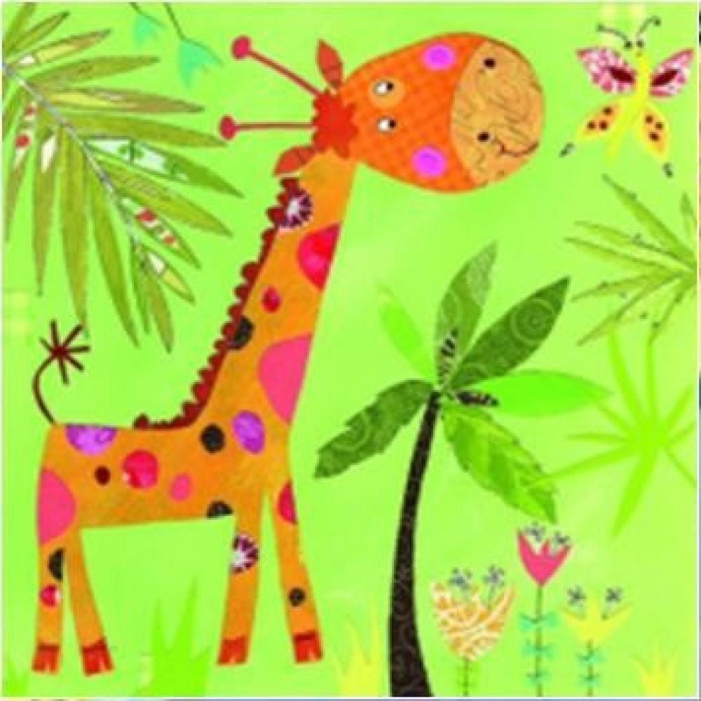 Salvetes 33x33cm, happy giraffe