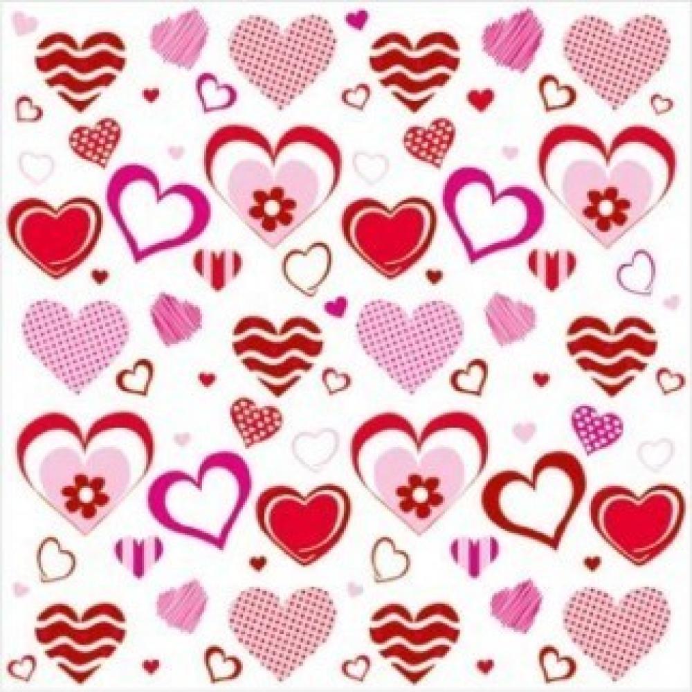 P salvetes 33x33cm valentine