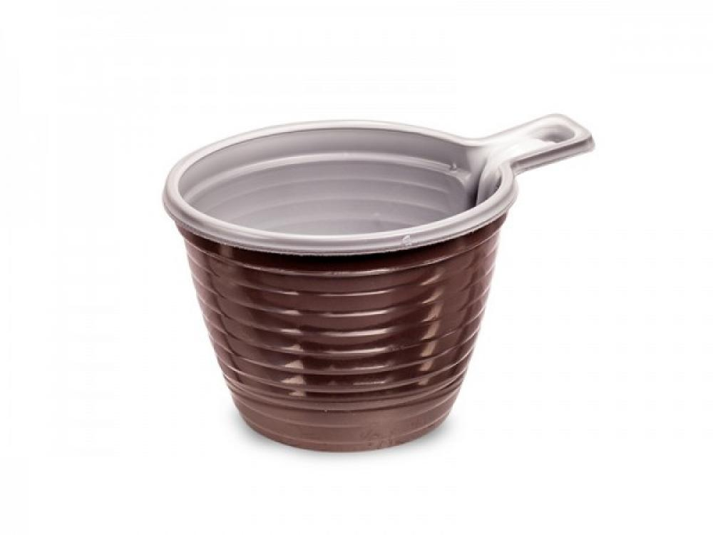 Kafijas krūze brūna ar maliņu, 50gab., ps, 0.305kg/iepak.