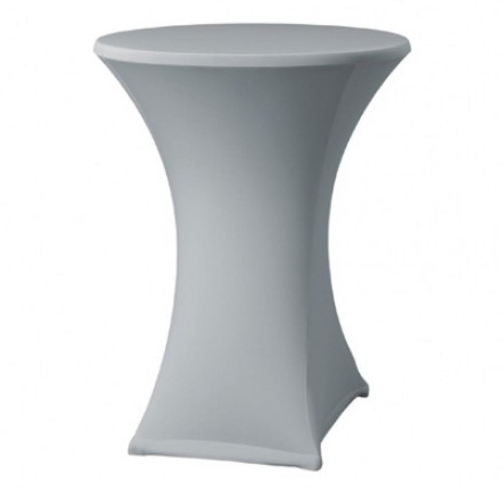 KOMPLEKTS: Stāvgalds saliekams - galdauts PELĒKS - grafīta, elastīgs, diam.70 cm h 110 cm