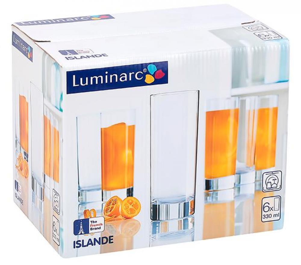 ISLANDE SULAS GLĀZES 330ML, 6GAB (OSZ), Luminarc